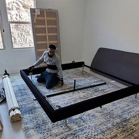 Our full service moving company will pad, pack, wrap, load and reassemble your furniture.