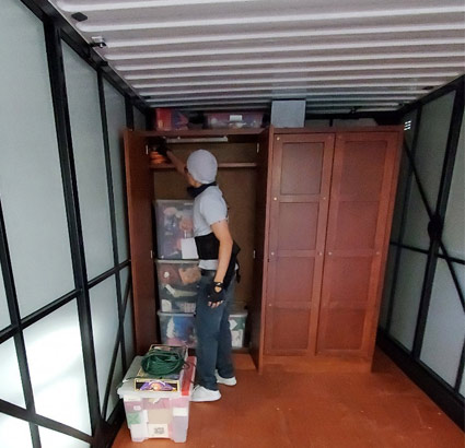 Rent your mobile storage container from 87 Movers Las Vegas moving company.